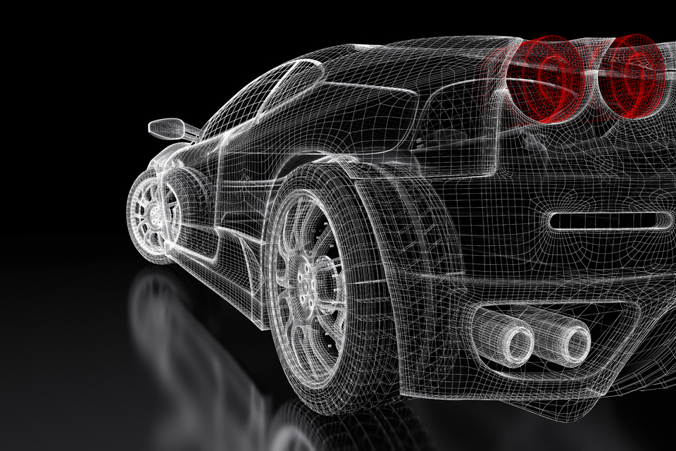 Wireframe Car Image